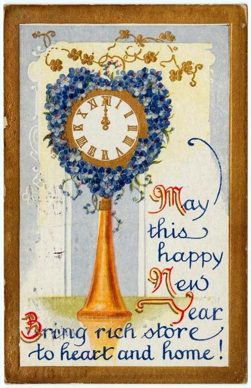 Vintage New Year's cards from Click Americana (1)