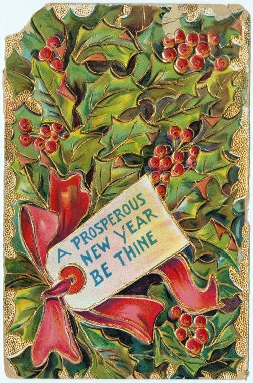 Vintage New Year's cards from Click Americana (10)