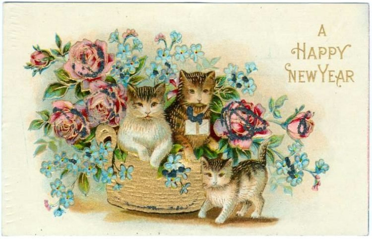 Vintage New Year's cards from Click Americana (12)