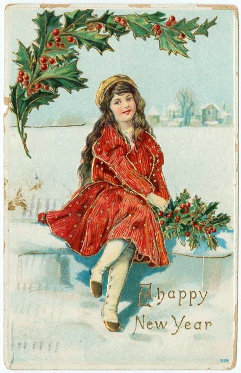 Vintage New Year's cards from Click Americana (13)