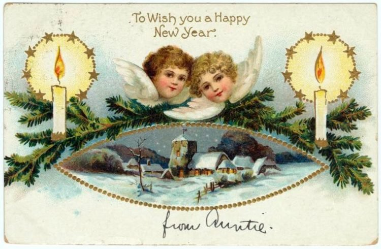 Vintage New Year's cards from Click Americana (15)