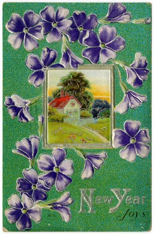 Vintage New Year's cards from Click Americana (2)