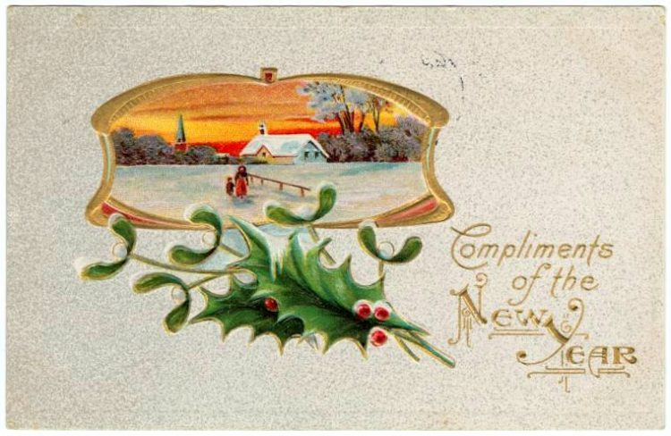 Vintage New Year's cards from Click Americana (3)