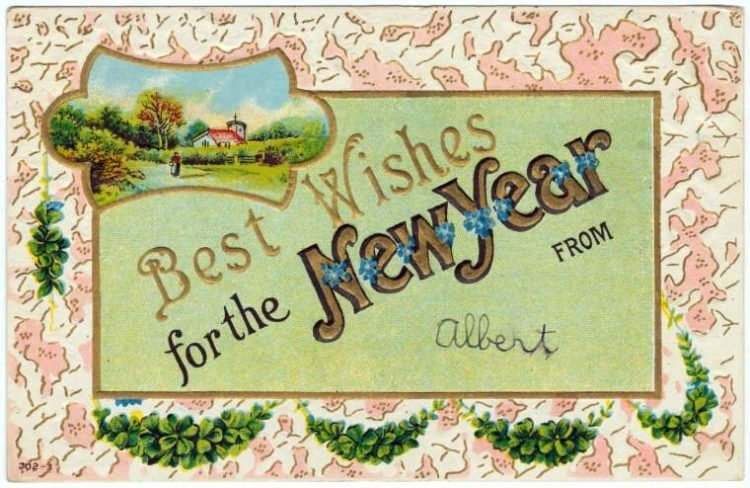 Vintage New Year's cards from Click Americana (4)