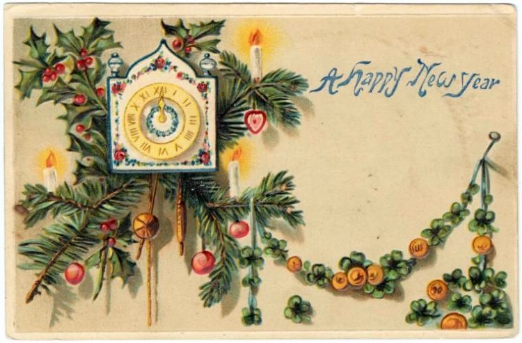 Vintage New Year's cards from Click Americana (5)