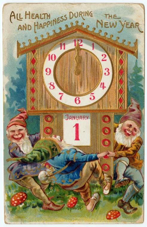 Vintage New Year's cards from Click Americana (7)