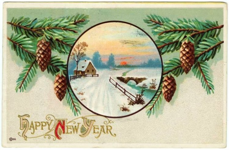 Vintage New Year's cards from Click Americana (8)