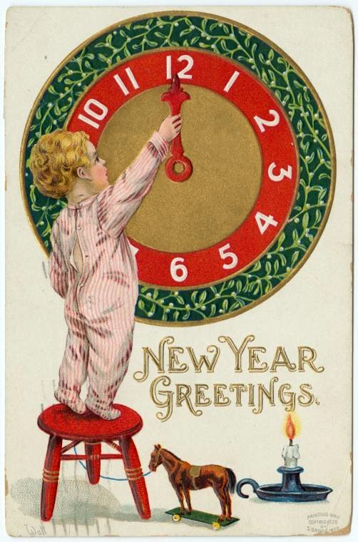 Vintage New Year's cards from Click Americana (9)
