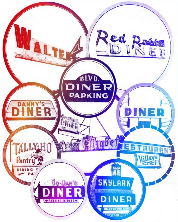 Vintage New York Diners - Signs