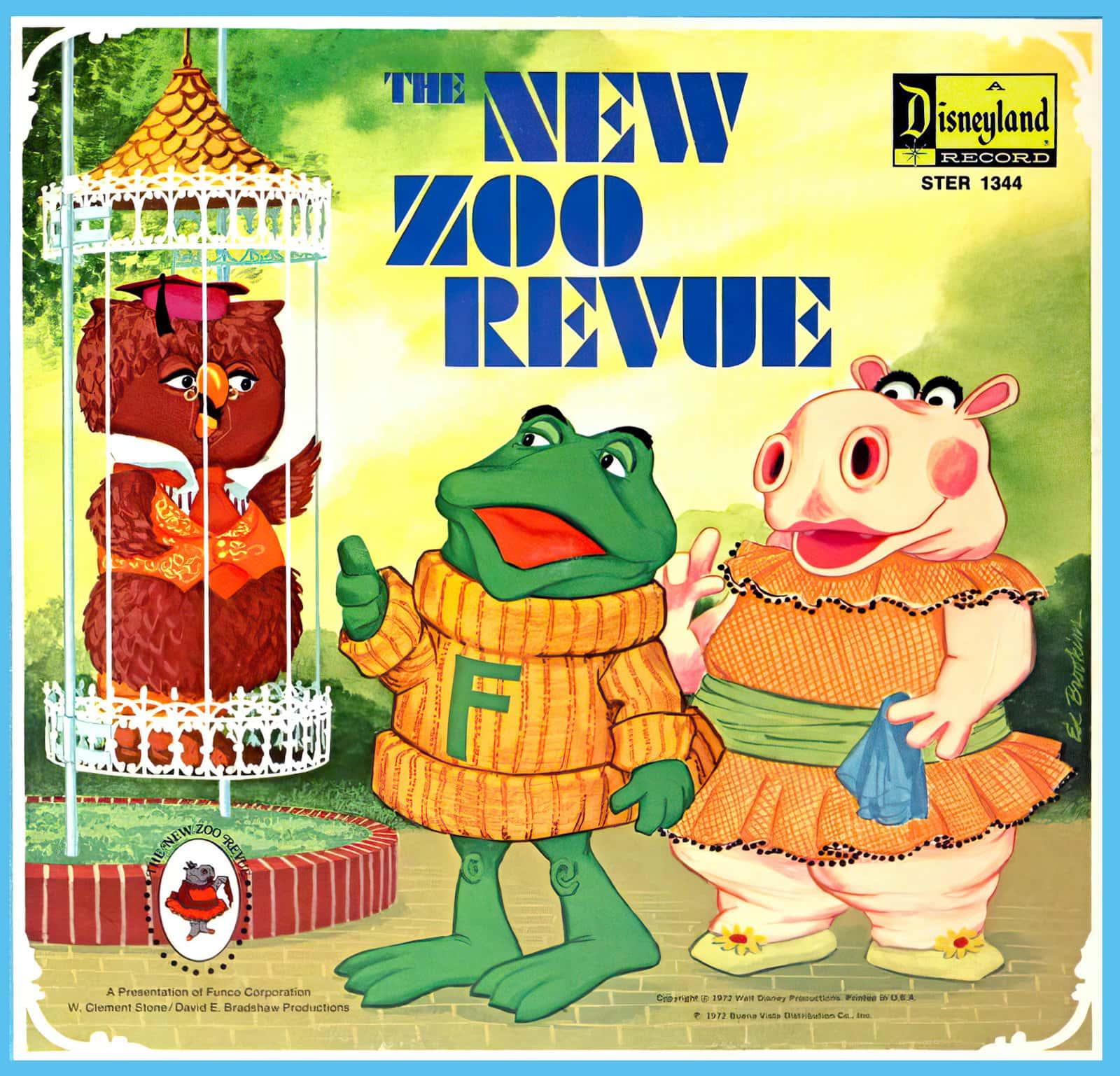 Vintage New Zoo Revue Disneyland record (1970s)