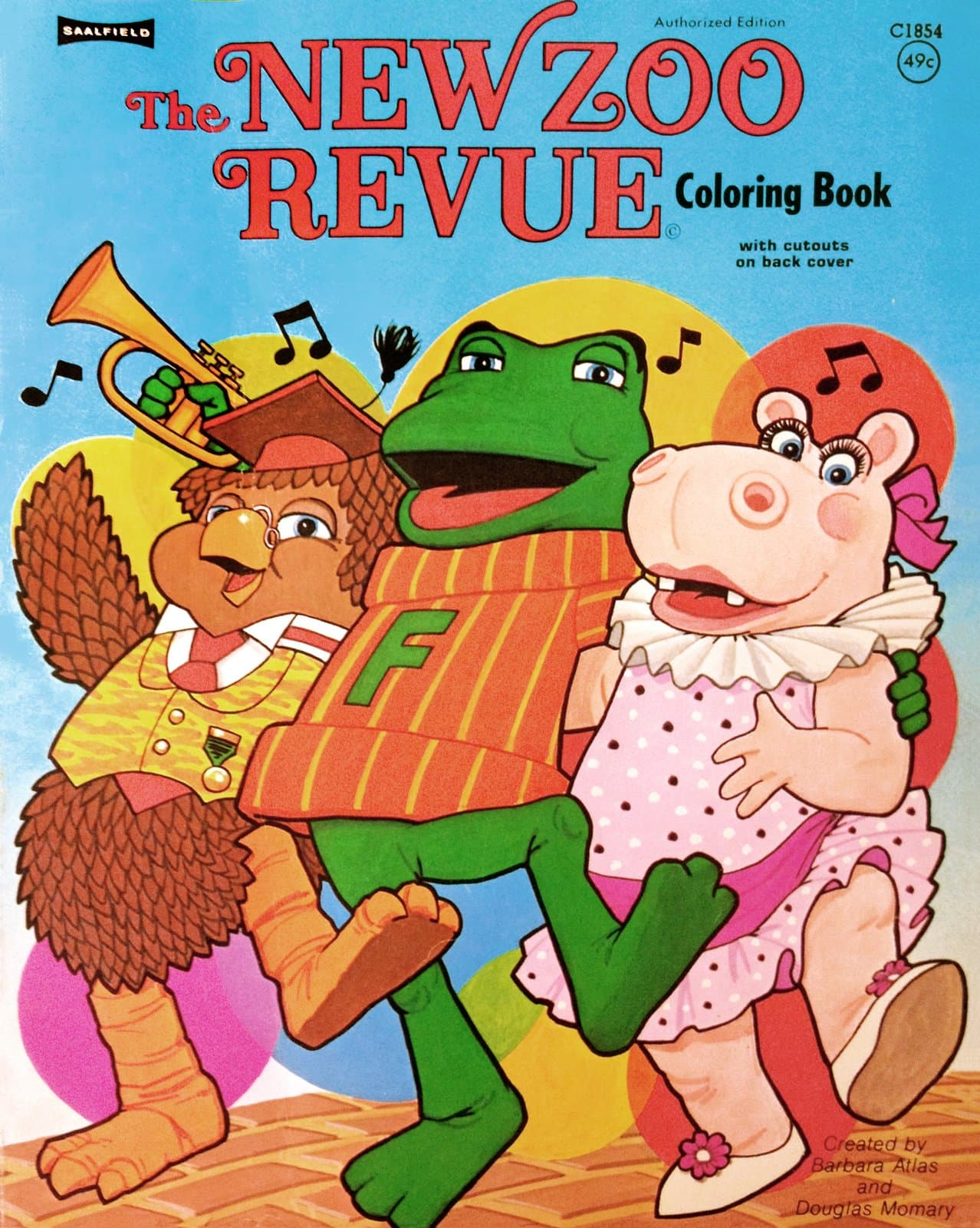 Vintage New Zoo Revue coloring book from the seventies