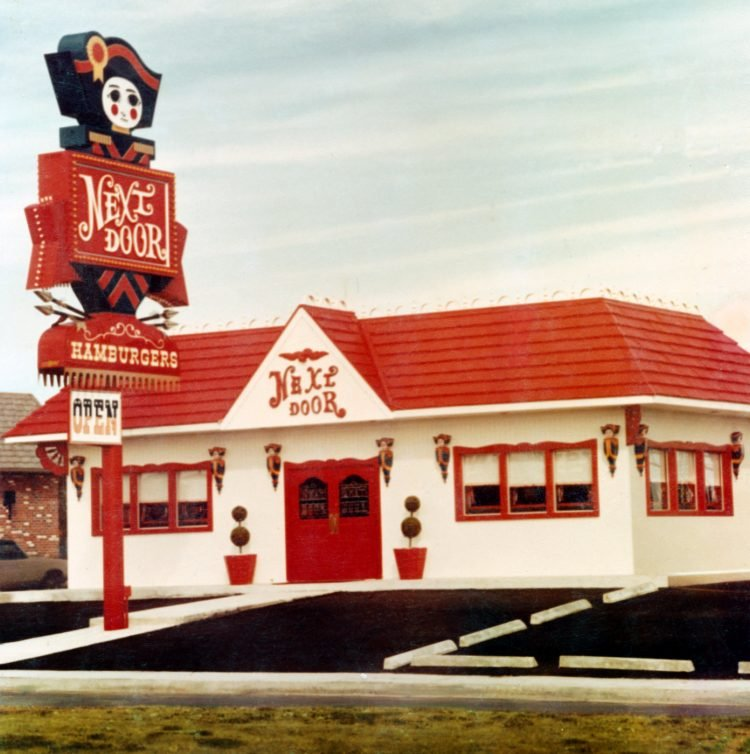 Vintage Next Door restaurant building - 1973