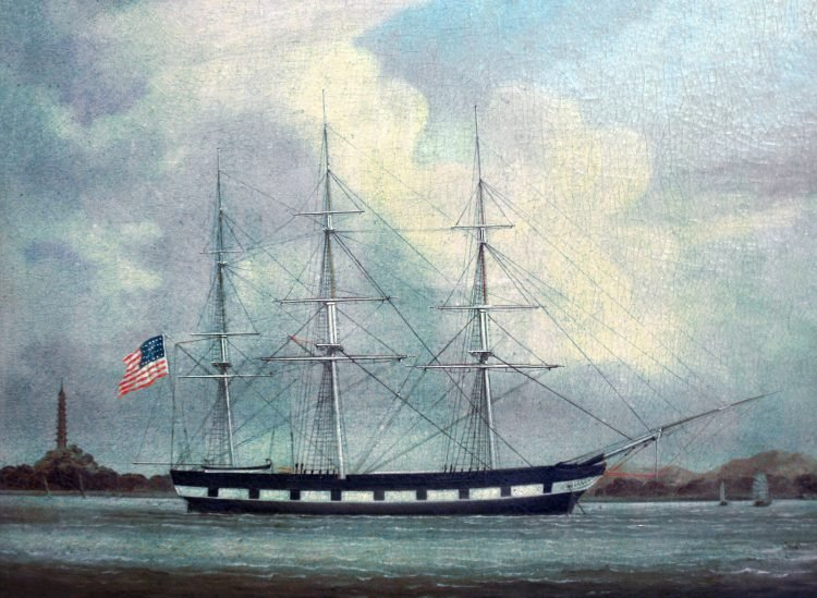 Vintage Niantic whale ship from Gold Rush era San Francisco