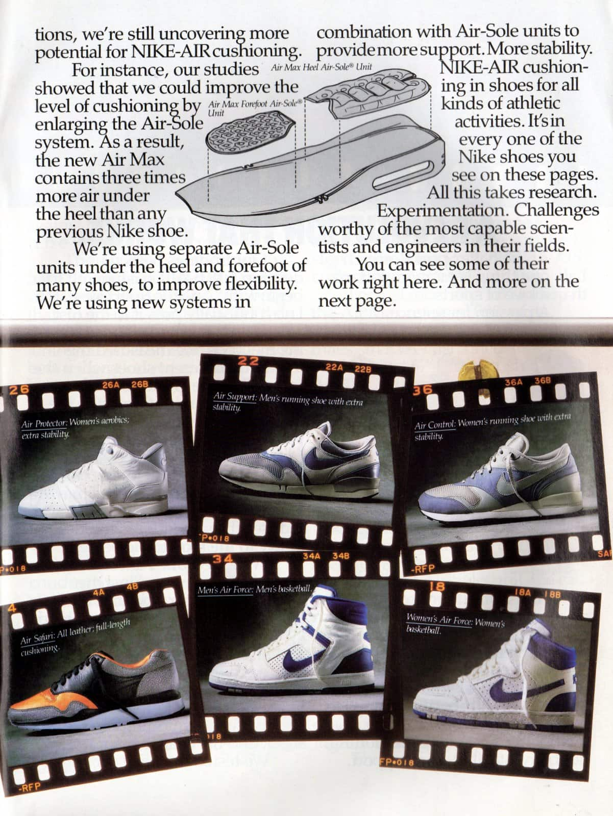 Vintage Nike Air shoes ad from March 1987 (1)