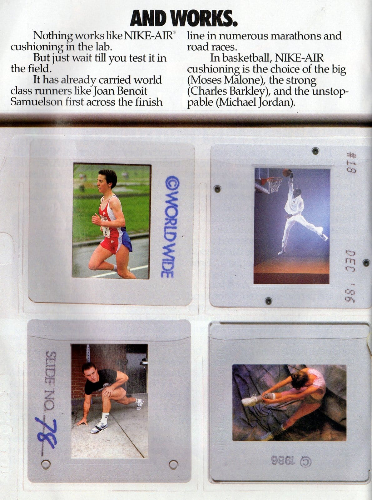 Vintage Nike Air shoes ad from March 1987 (2)