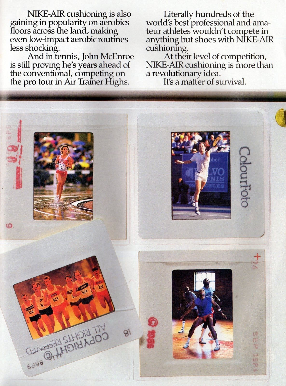 Vintage Nike Air shoes ad from March 1987 (3)
