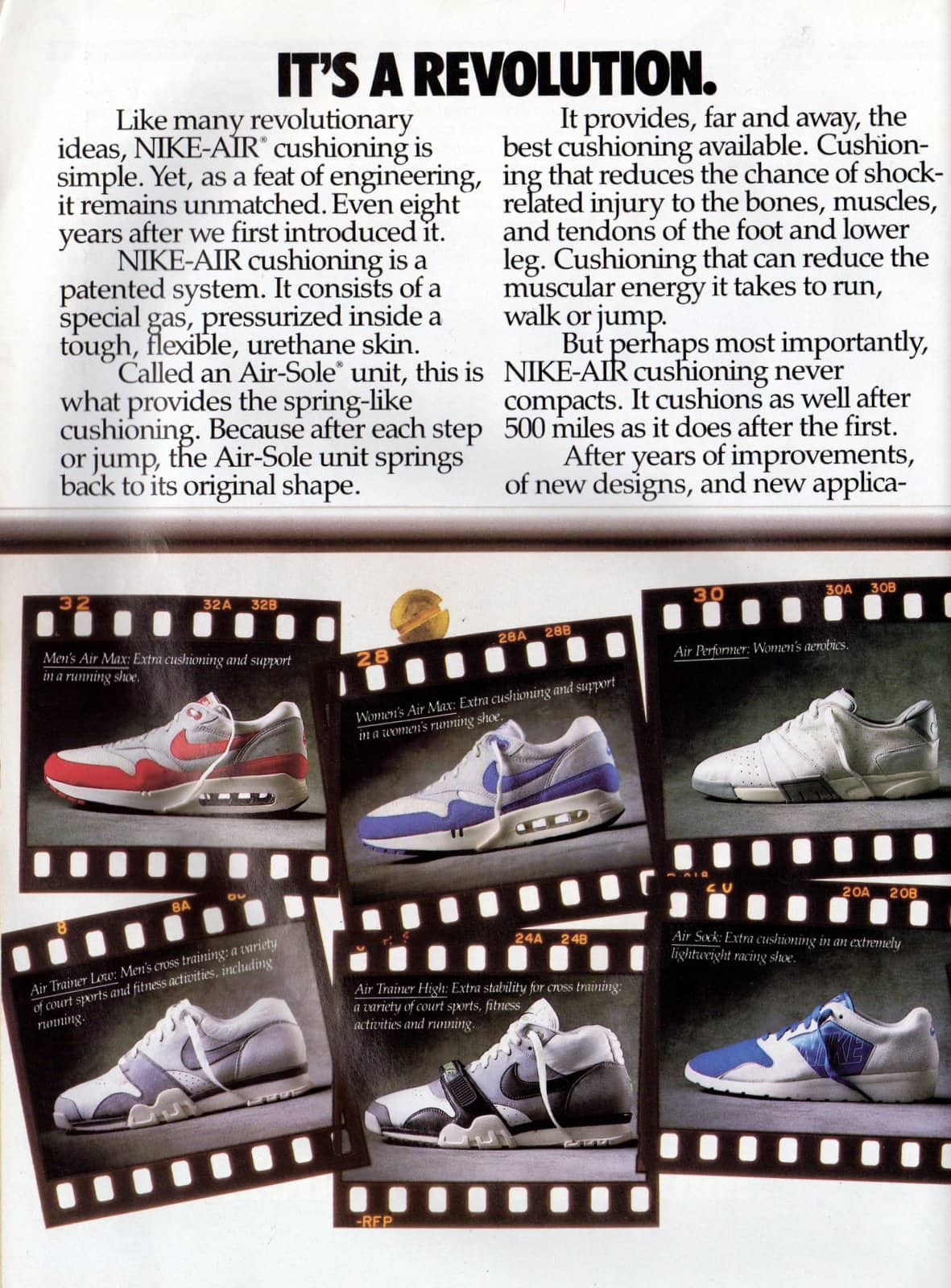 Vintage Nike Air shoes ad from March 1987 (6)