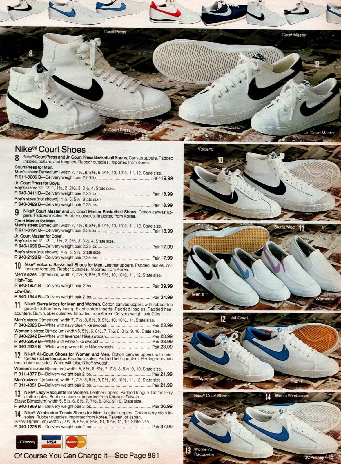 Vintage Nike Court Shoes (1983)