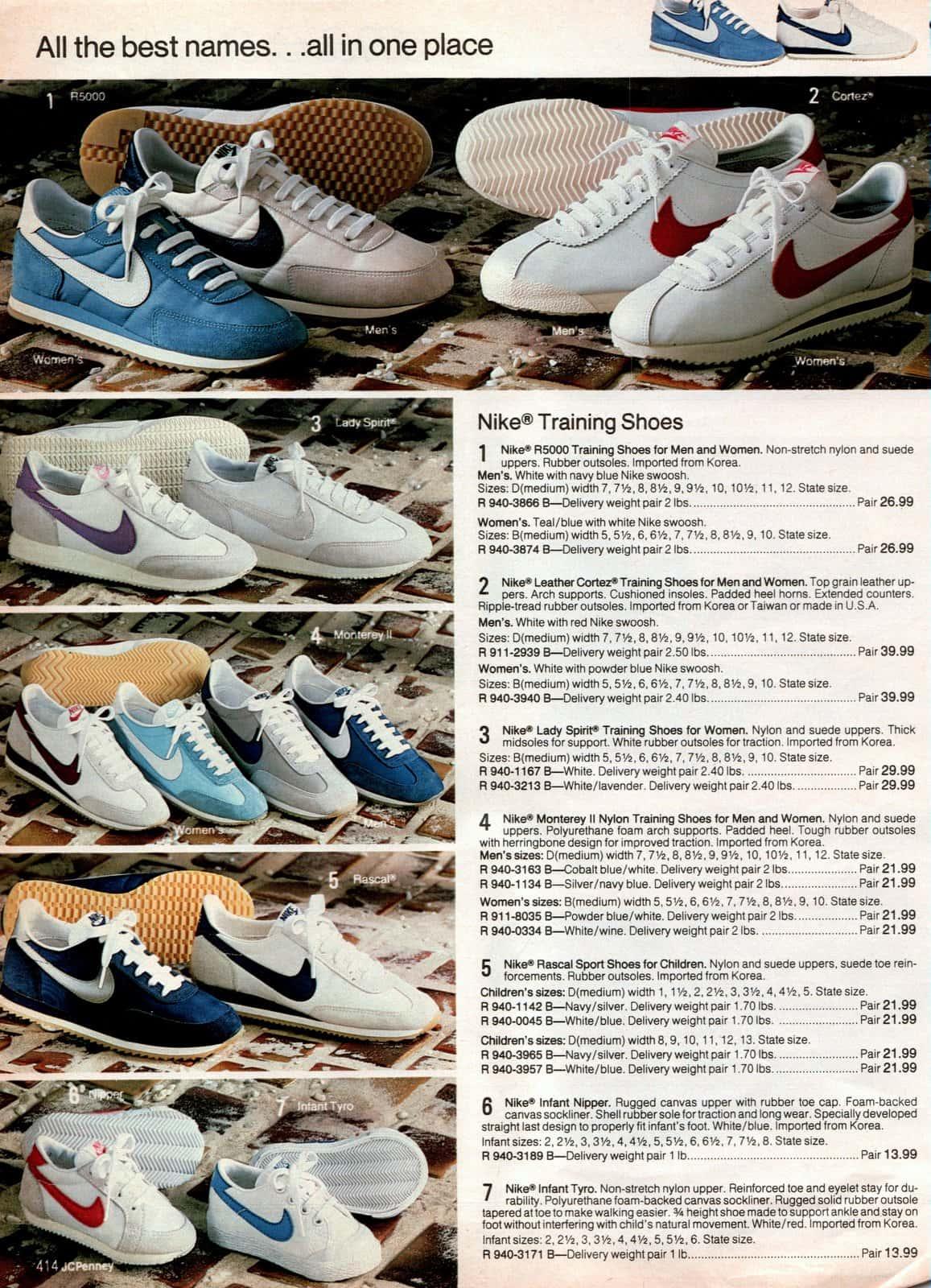 Vintage Nike training shoes (1983)