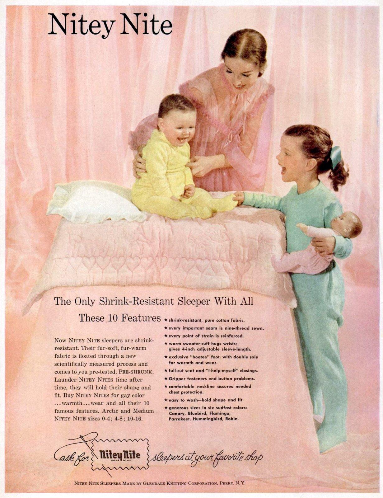 Vintage Nitey Nite sleepers - Pajamas for kids (1951)