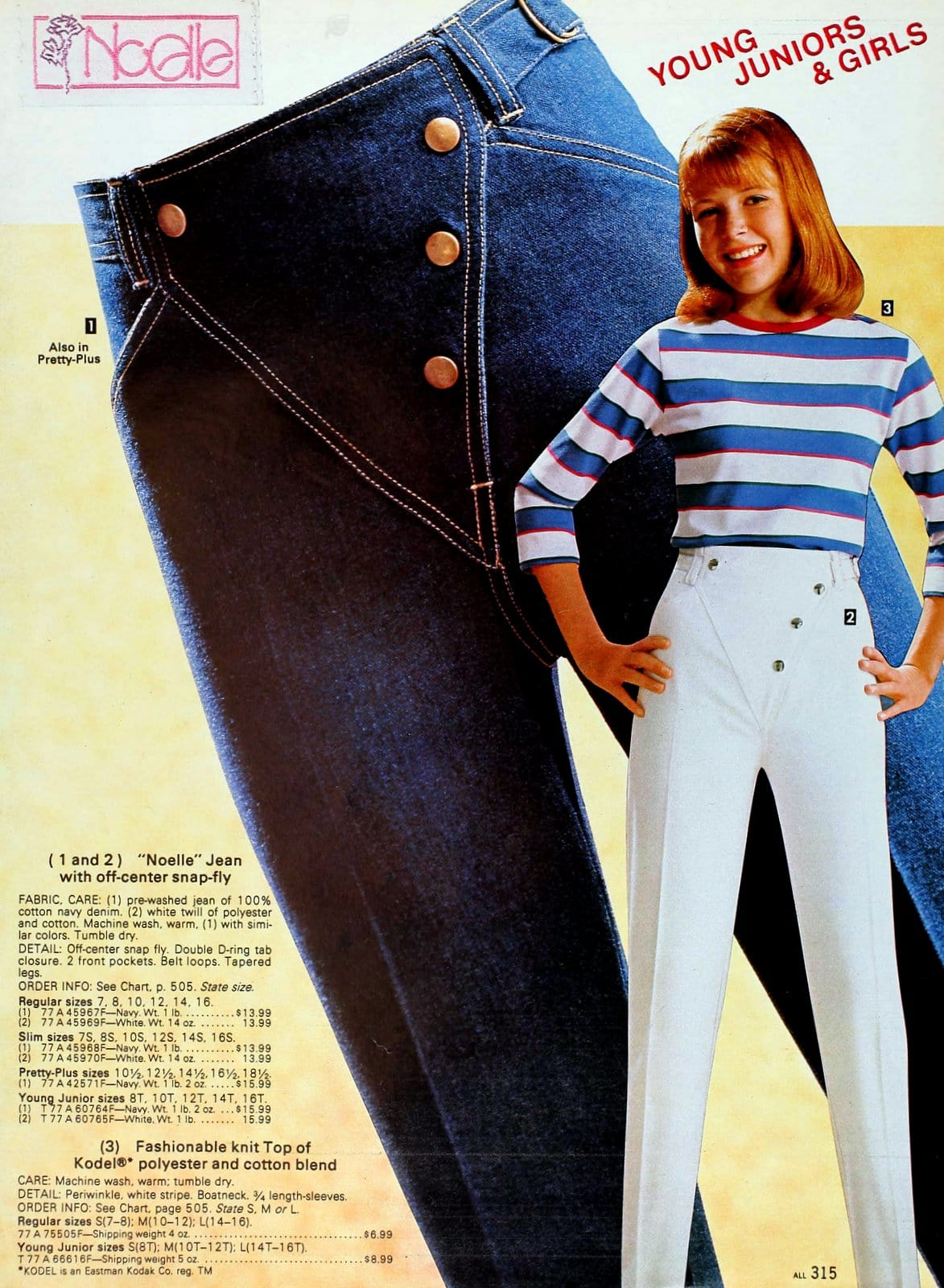 Vintage Noelle jeans for young juniors and girls (1983)