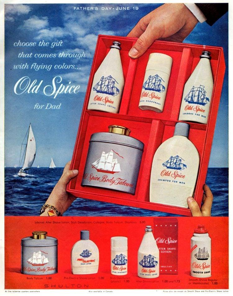 Vintage Old Spice gift set for men 1960
