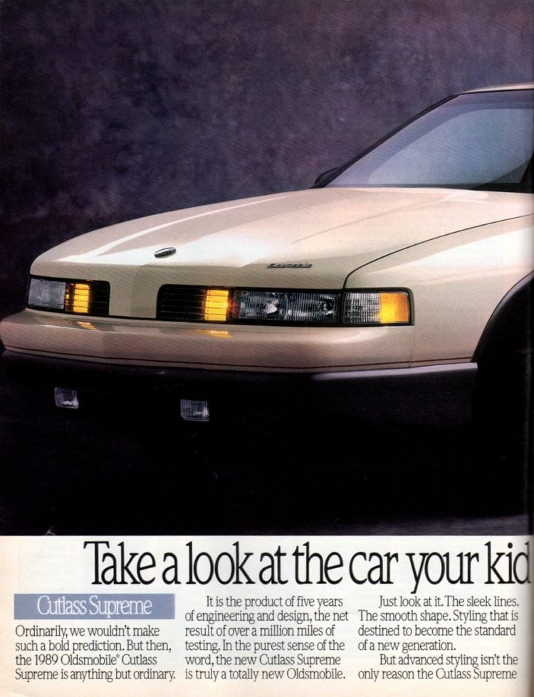Vintage Oldsmobile Cutlass Supreme cars from 1989 (1)