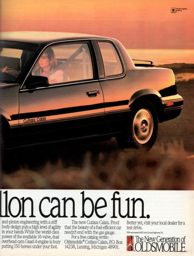 Vintage Oldsmobile Cutlass cars from 1989 (1)
