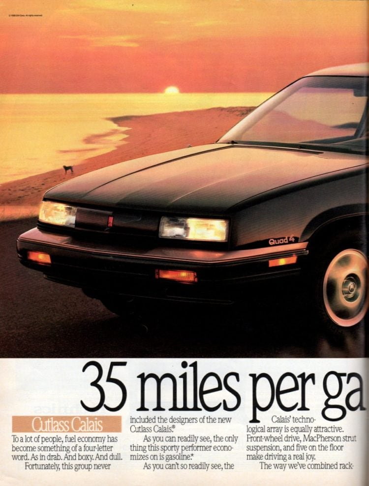 Vintage Oldsmobile Cutlass cars from 1989 (2)