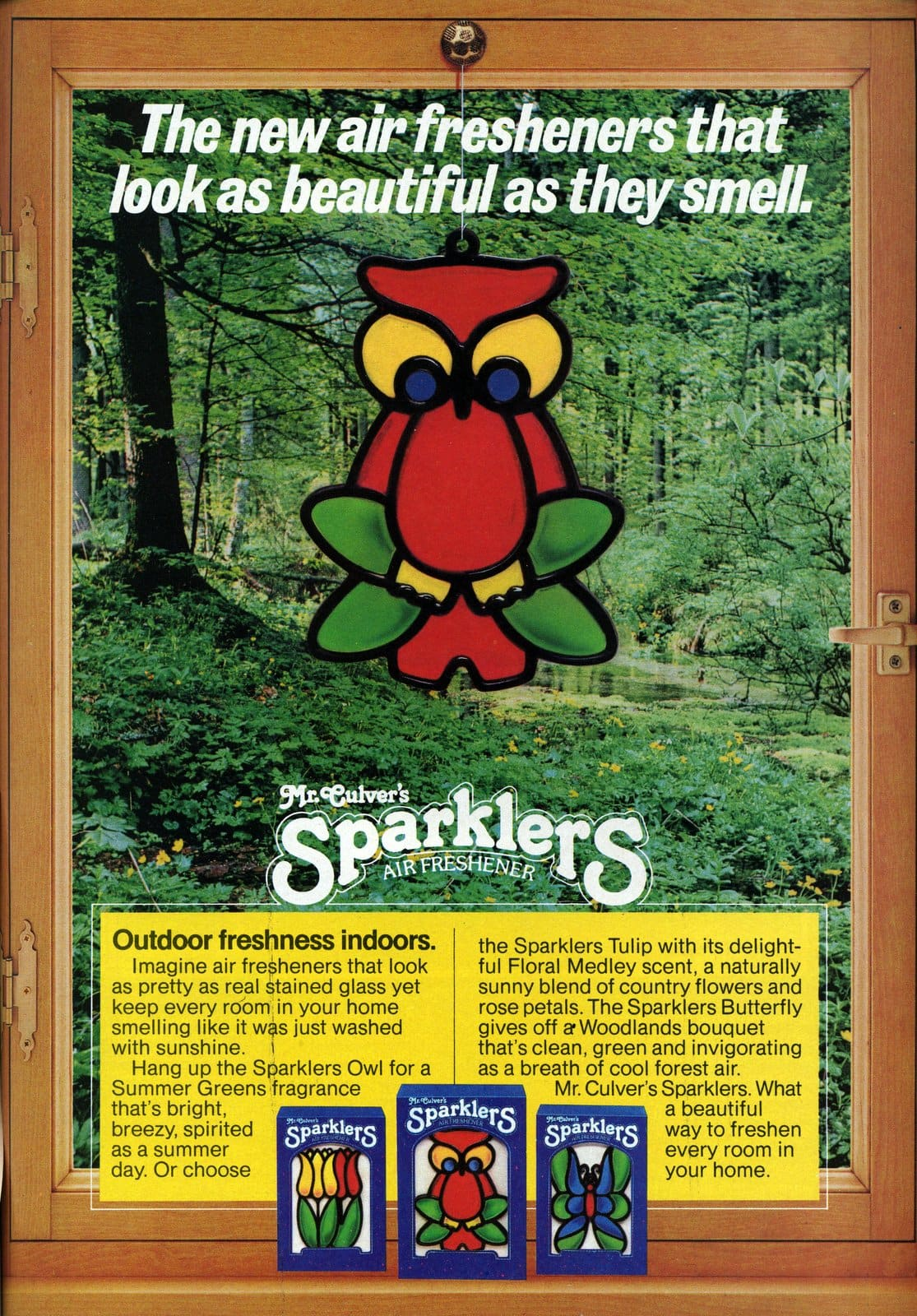 Vintage Owl - Mr Culver's Sparklers stained glass air fresheners (1981)