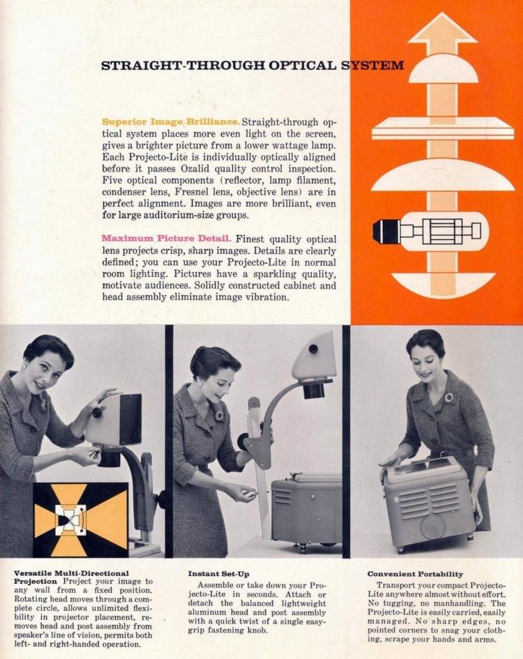 Vintage Ozalid Projecto-Lite Overhead Projectors