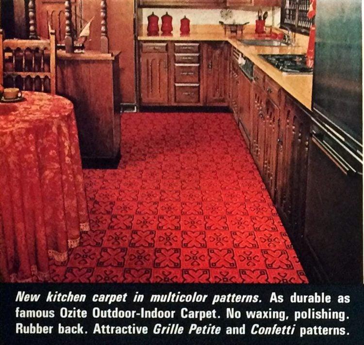 Vintage Ozite kitchen carpeting