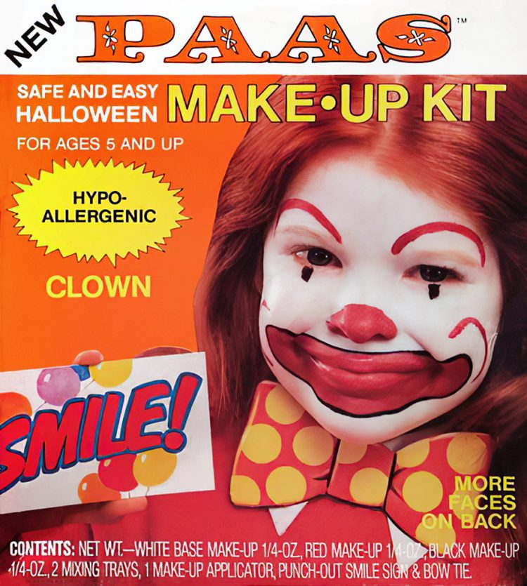 Vintage Paas Halloween makeup kit - Clown
