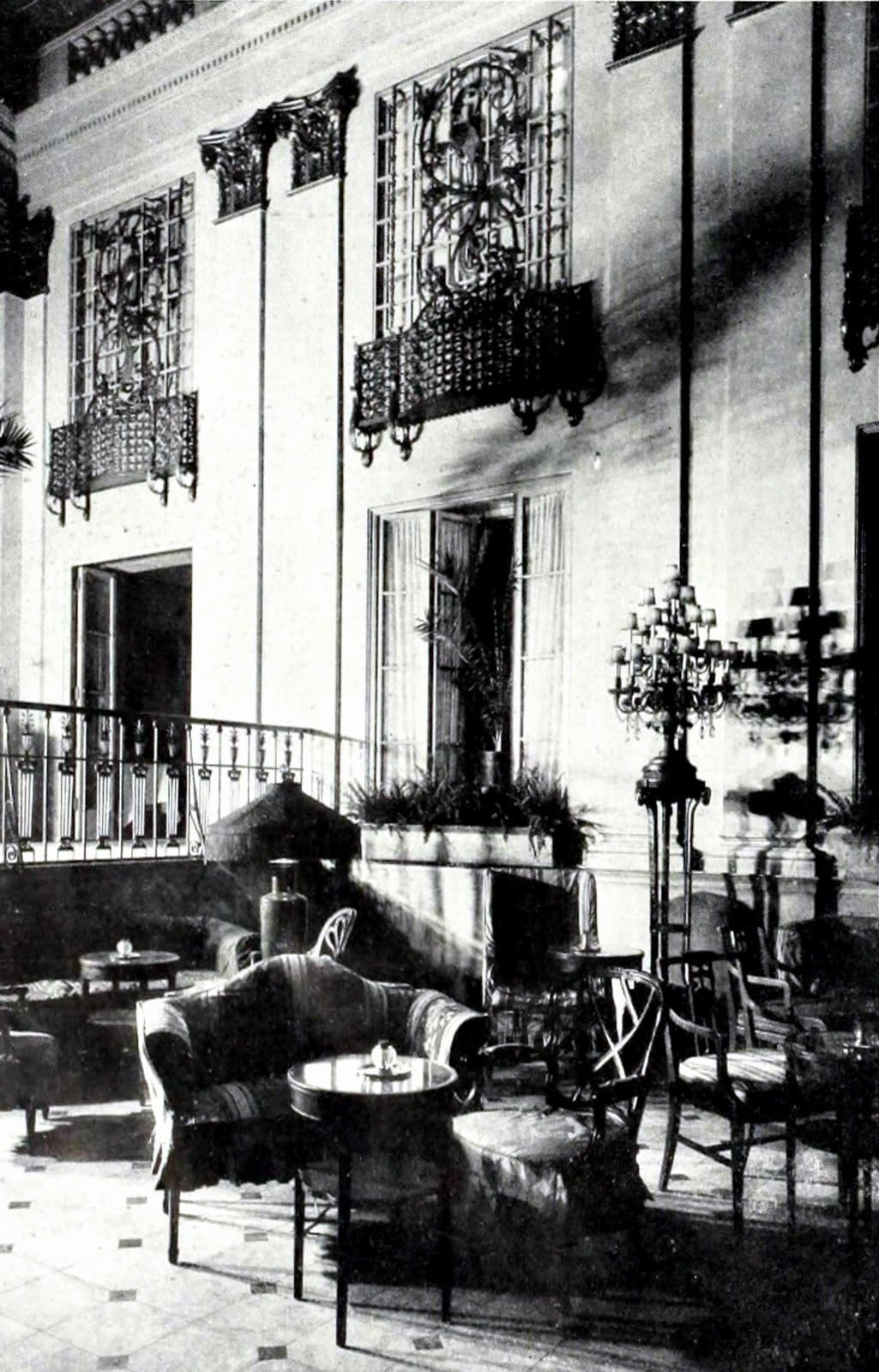 Vintage Palm Room - Old Ritz-Carlton Hotel NYC (1924)