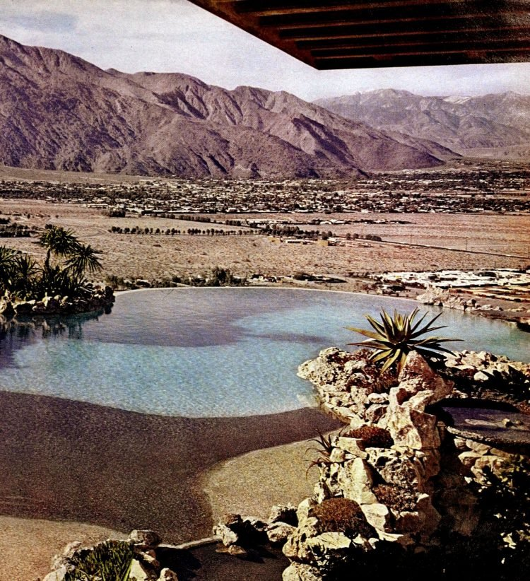 Vintage Palm Springs swimming pools desert swimming pools 1960s (2)