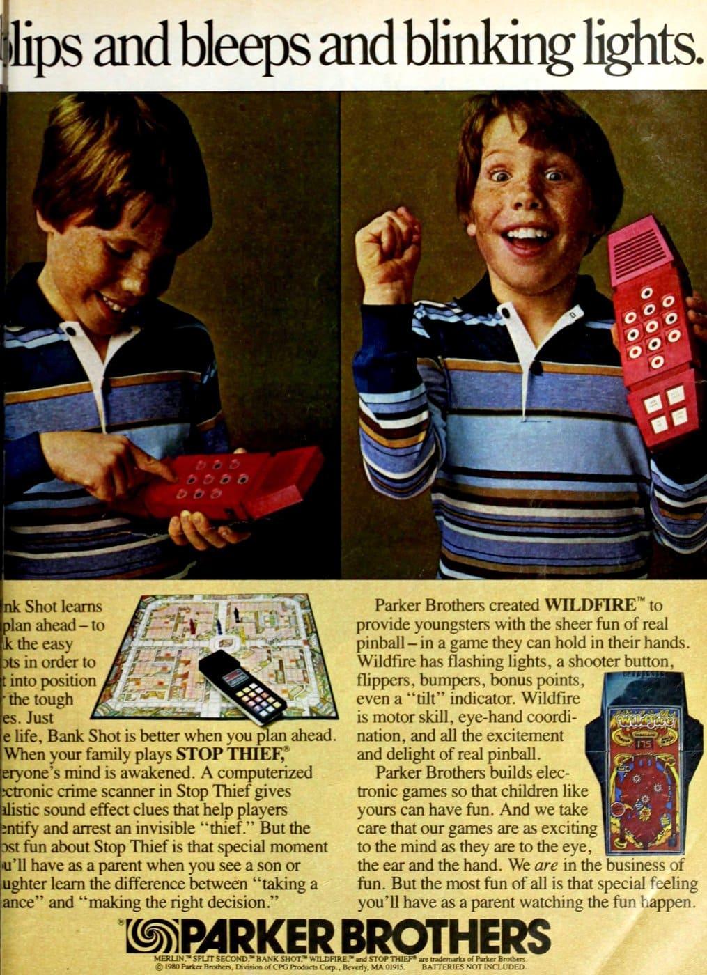 Vintage Parker Brothers Merlin electronic handheld games (1980)