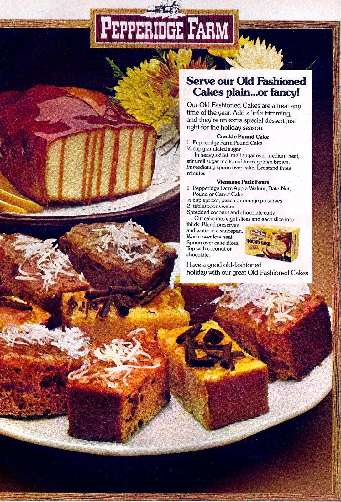 Vintage Pepperidge Farm old-fashioned cakes (1979)