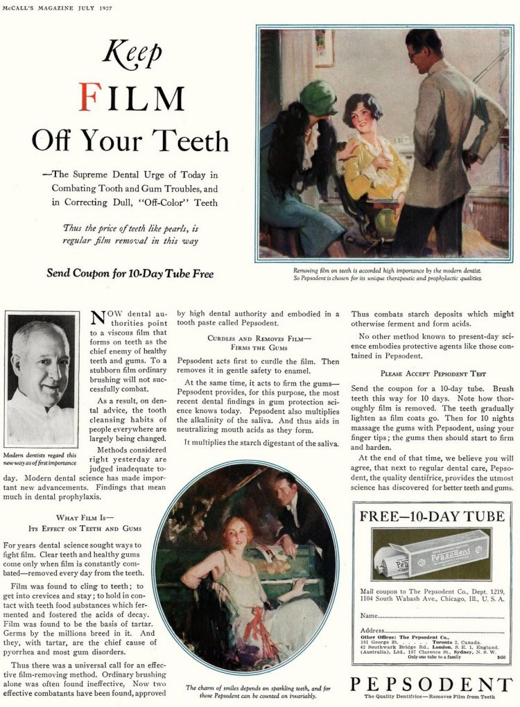 Vintage Pepsodent toothpaste (1927)