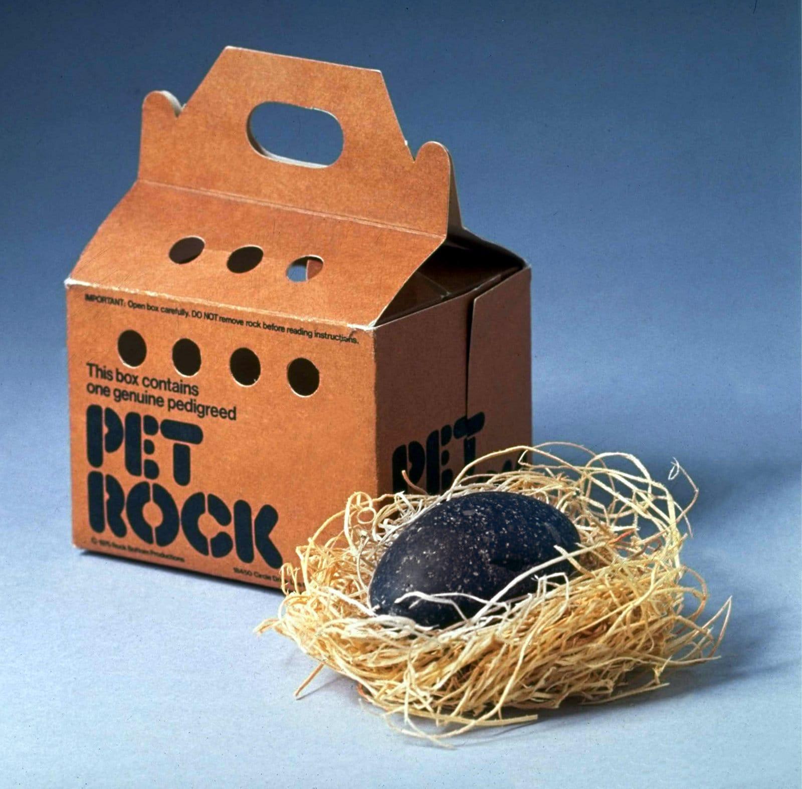 Vintage Pet Rock gag gift