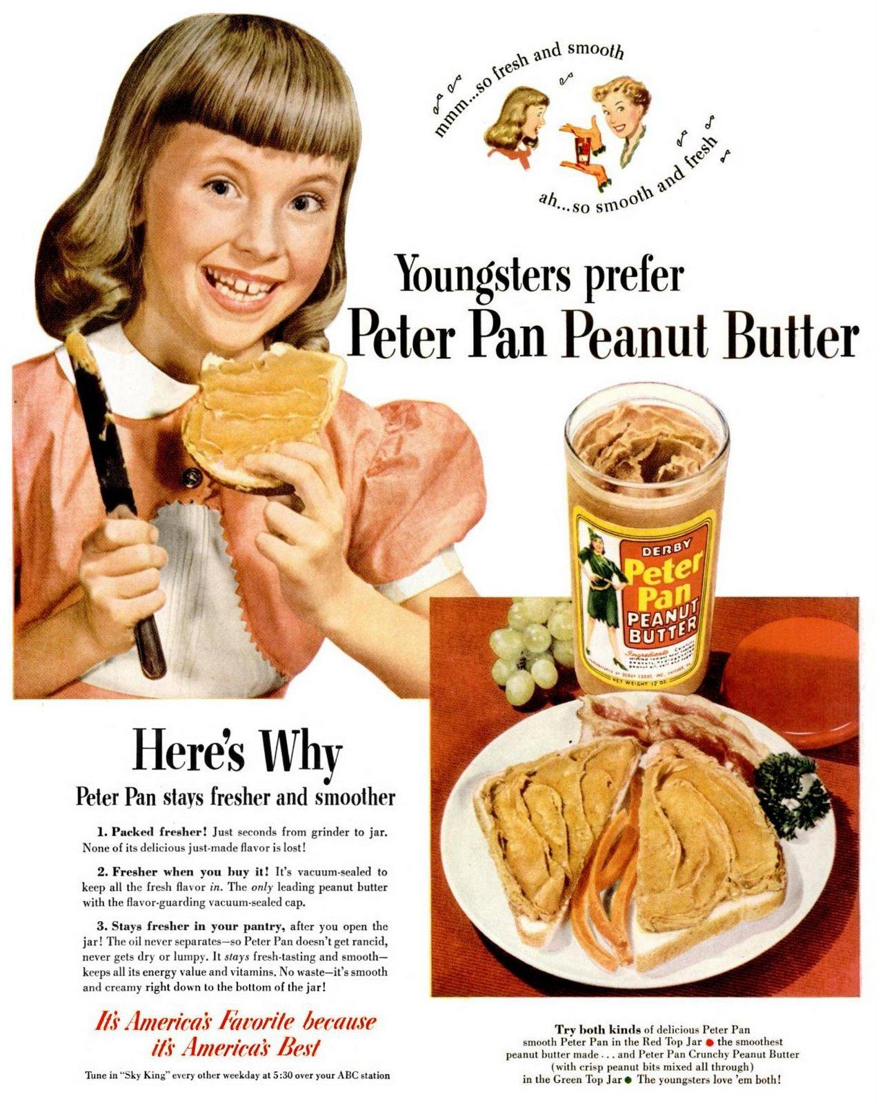 Vintage Peter Pan peanut butter (1950)