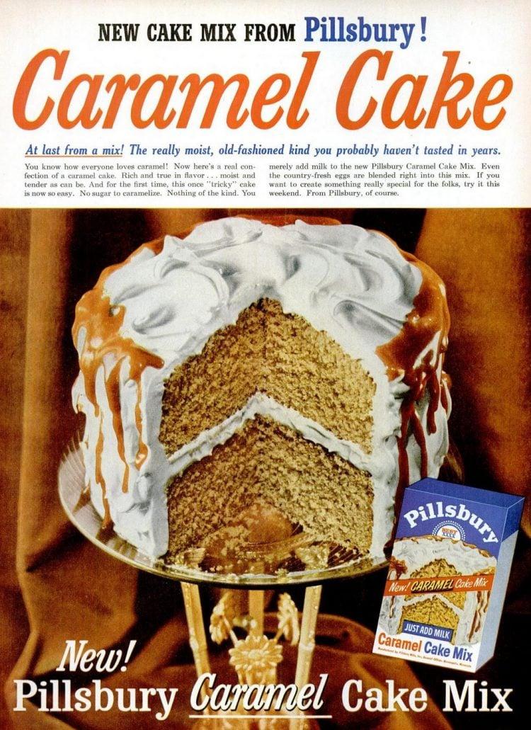 Vintage Pillsbury Caramel cake mix (1956)
