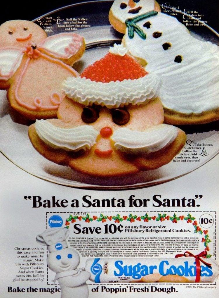 Vintage Pillsbury Sugar Cookies - slice and bake from 1979