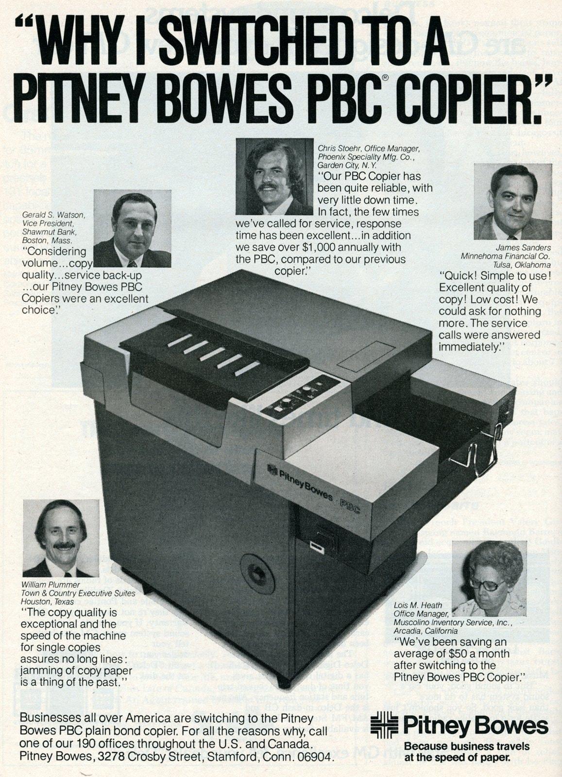 Vintage Pitney Bowes PBC copier (1976)