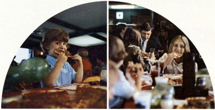 Vintage Pizza Hut restaurants - 1971