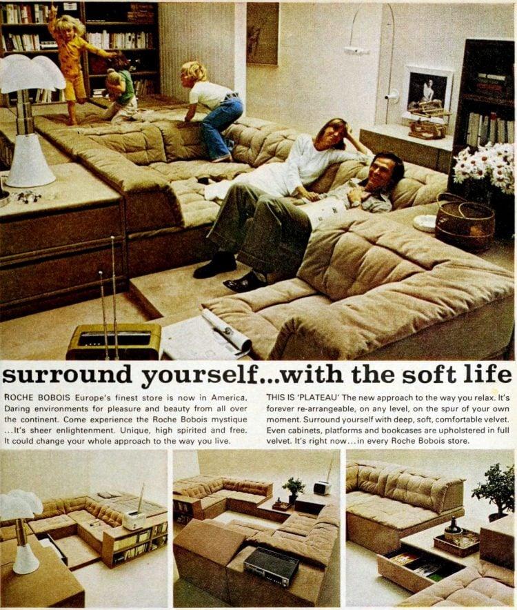 Vintage Plateau modular sofa you can rearrange - 70s