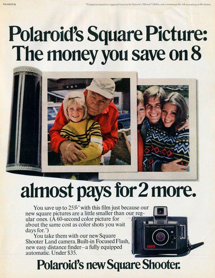Vintage Polaroid Square Shooter 1971