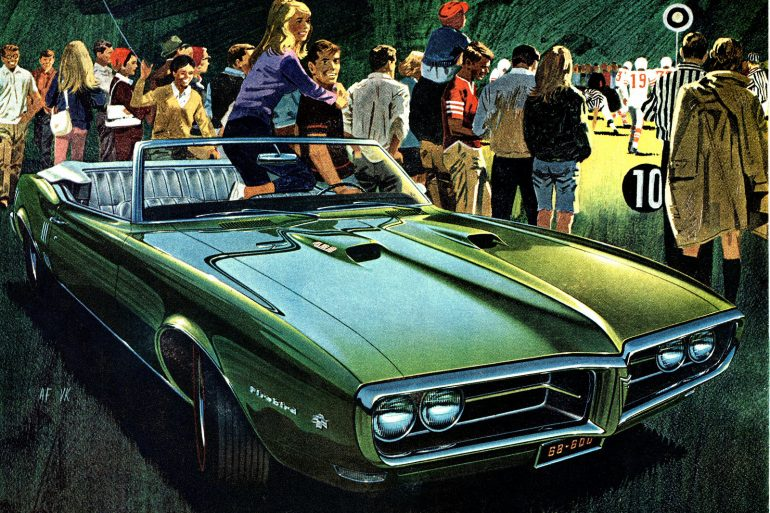 Vintage Pontiac car ads from the 1960s