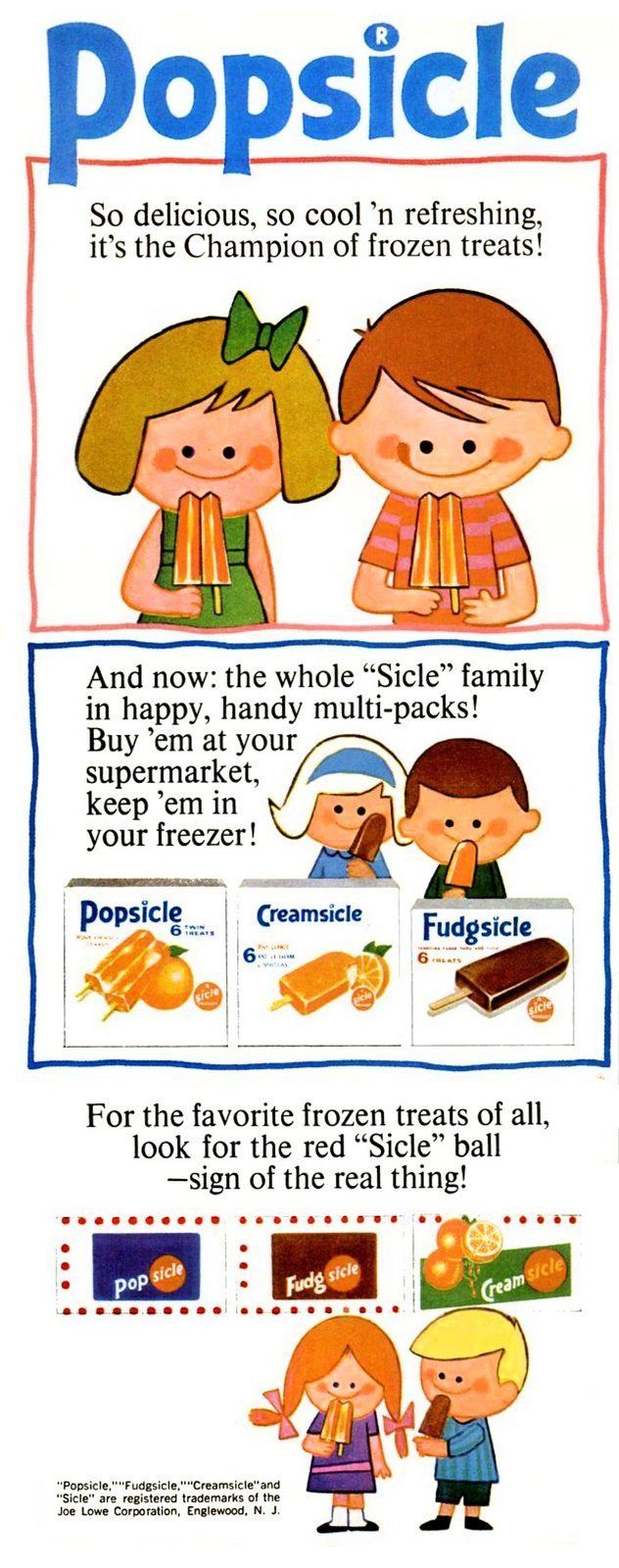 Vintage Popsicles from 1965