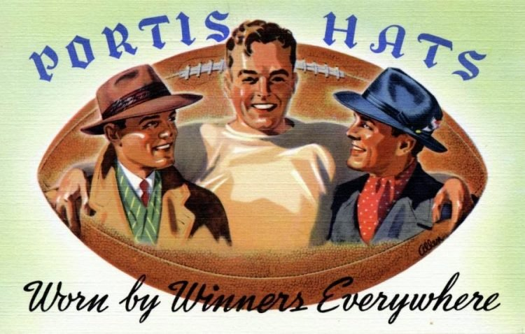 Vintage Portis hats for men from the 1940s (2)