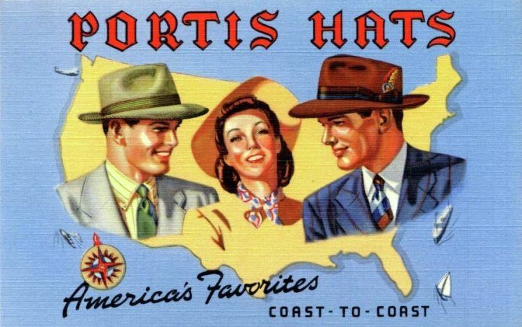 Portis - America's favorite hats from coast-to-coast (1940s)